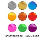 reflective buttons | Shutterstock .eps vector #10205155
