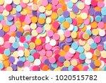 confetti. colorful dots view... | Shutterstock . vector #1020515782