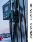 at the petrol station | Shutterstock . vector #1020522886
