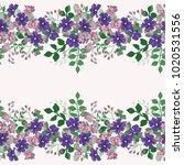 seamless cute border of small... | Shutterstock .eps vector #1020531556