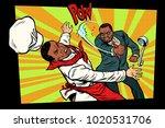 restaurant food. dissatisfied... | Shutterstock .eps vector #1020531706