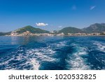 distance view of budva city... | Shutterstock . vector #1020532825