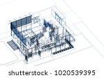 architecture 3d illustration | Shutterstock . vector #1020539395