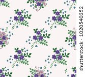 seamless gorgeous pattern in... | Shutterstock .eps vector #1020540352