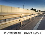 safety rail on freeway with... | Shutterstock . vector #1020541936