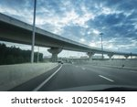 highway and viaduct under the... | Shutterstock . vector #1020541945