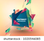 colorful abstract design.... | Shutterstock .eps vector #1020546085