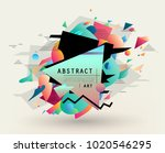 colorful abstract design.... | Shutterstock .eps vector #1020546295