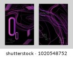 abstract banner template with... | Shutterstock .eps vector #1020548752