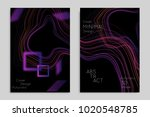 abstract banner template with... | Shutterstock .eps vector #1020548785