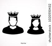king in  crown  princess...   Shutterstock .eps vector #1020550432