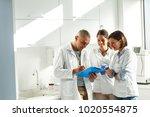 medical dentist team in dental... | Shutterstock . vector #1020554875