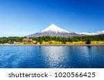 osorno volcano and llanquihue... | Shutterstock . vector #1020566425
