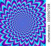 blue twisted  flower. motion... | Shutterstock .eps vector #1020567238