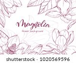 floral background. hand drawn... | Shutterstock .eps vector #1020569596
