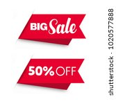 sale red price tags set | Shutterstock .eps vector #1020577888