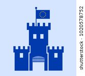fortress europe   european... | Shutterstock .eps vector #1020578752