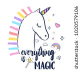 everything is magic slogan and... | Shutterstock .eps vector #1020579106