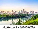 edmonton downtown after sunset  ... | Shutterstock . vector #1020584776