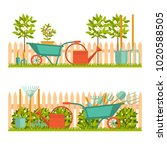 concept of gardening. garden... | Shutterstock .eps vector #1020588505