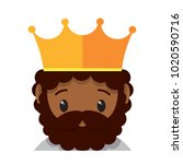 vector cute king colorful... | Shutterstock .eps vector #1020590716