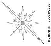 the outline of the star shape... | Shutterstock .eps vector #1020592318