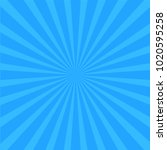 bright blue rays background....   Shutterstock .eps vector #1020595258