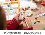 child make crafts and toys ...   Shutterstock . vector #1020601486