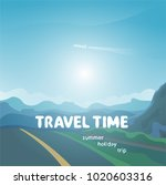 travel time background | Shutterstock . vector #1020603316