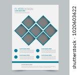 blue business flyer. a4... | Shutterstock .eps vector #1020603622