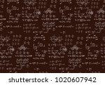 retro education and scientific... | Shutterstock .eps vector #1020607942