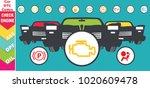 set of multiple car instrument... | Shutterstock .eps vector #1020609478