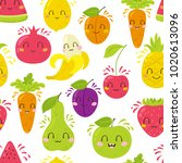 vector seamless pattern with... | Shutterstock .eps vector #1020613096