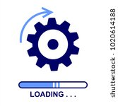 loading software flat icon.... | Shutterstock .eps vector #1020614188