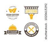 set of restaurant shop design... | Shutterstock .eps vector #1020615292