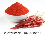 indian spice red chilli powder... | Shutterstock . vector #1020615448