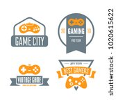 vector set of game play... | Shutterstock .eps vector #1020615622