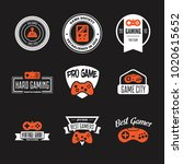 vector set of game play... | Shutterstock .eps vector #1020615652