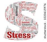 vector conceptual mental stress ... | Shutterstock .eps vector #1020615976