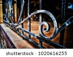 Forged Metal Fence In Retro...