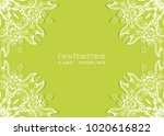 invitation or card template... | Shutterstock .eps vector #1020616822