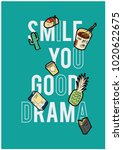 patch and slogan print   Shutterstock .eps vector #1020622675