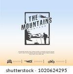 mountain logo  travel emblem   Shutterstock .eps vector #1020624295