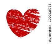 red vector heart isolated on...   Shutterstock .eps vector #1020625735