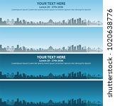 chongqing skyline event banner   Shutterstock .eps vector #1020638776