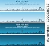 osaka skyline event banner   Shutterstock .eps vector #1020638782