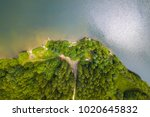 aerial view of a lake and... | Shutterstock . vector #1020645832