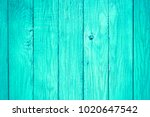 Painted Pastel Turquoise Wood...