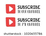 subscribe with play button sign ...