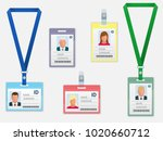 set of employees identification ... | Shutterstock . vector #1020660712